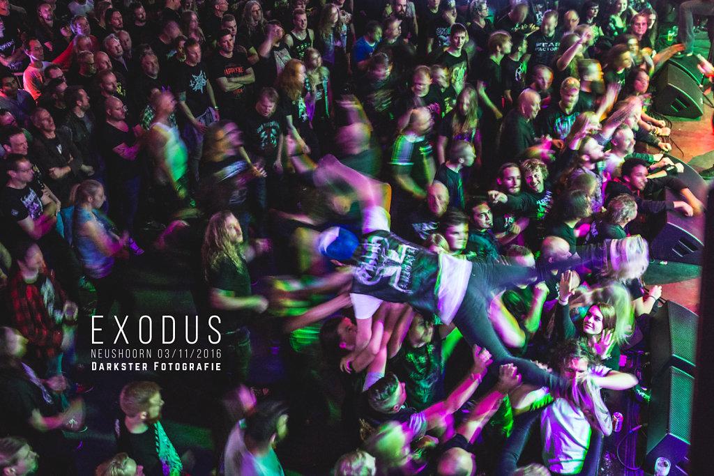 Publiek tijdens Exodus @ Neushoorn (Leeuwarden)