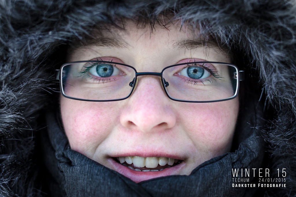 Winters portret in Techum